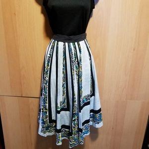 FAB Handmade Geometric Print Circle Skirt